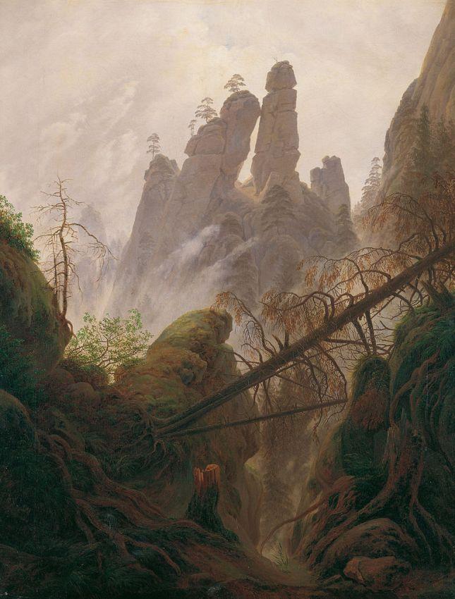 Paisaje rocoso en las Montañas de Arenisca del Elba