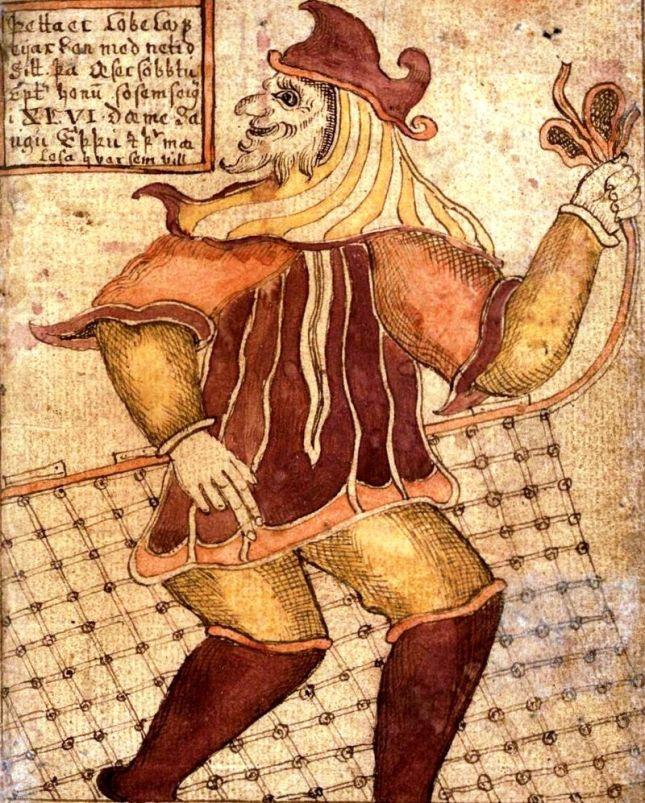 Loki con red de pesca (Siglo XVIII)