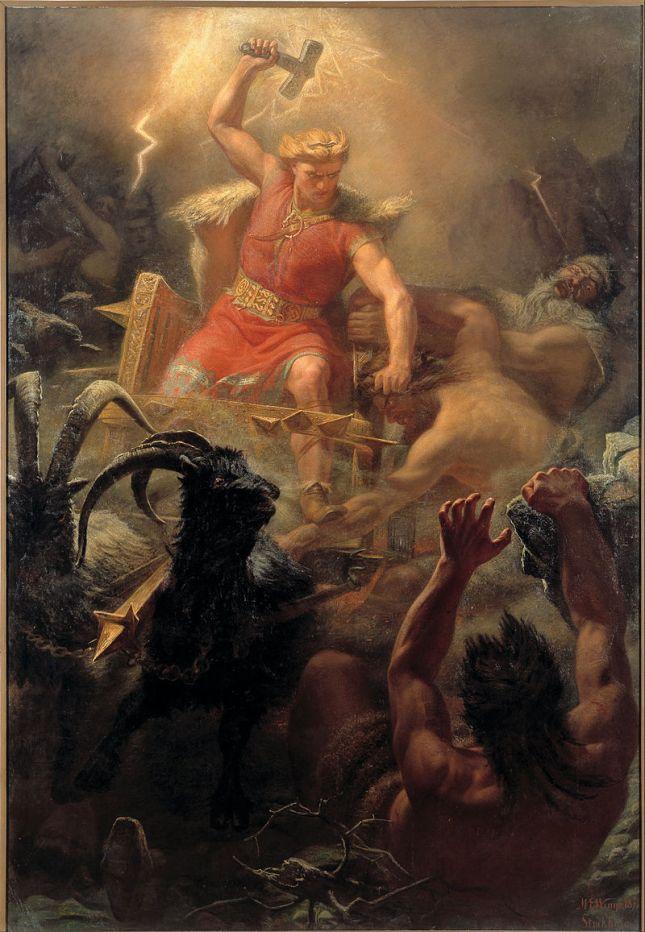 M. E. Winge - Thor luchando contra los gigantes