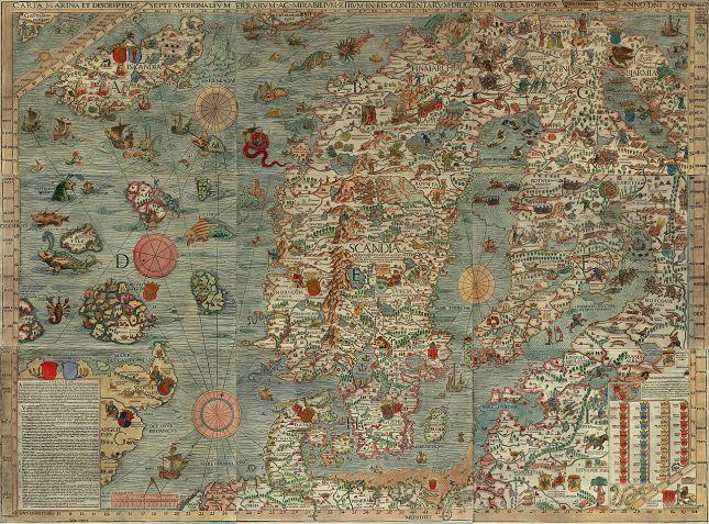 Olaus Magnus - Carta marina