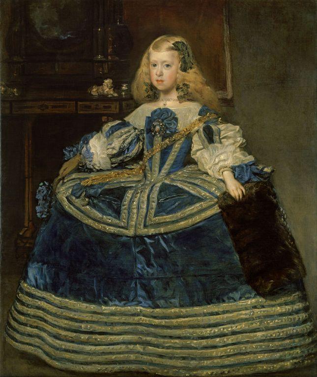 La Infanta Margarita en azul