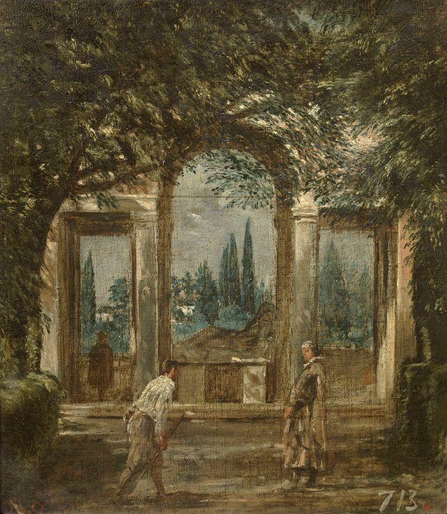 Vista del jardín de la Villa Médicis, en Roma