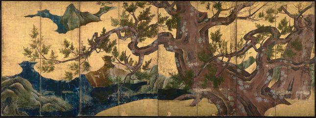 Kanō Eitoku - El gran ciprés