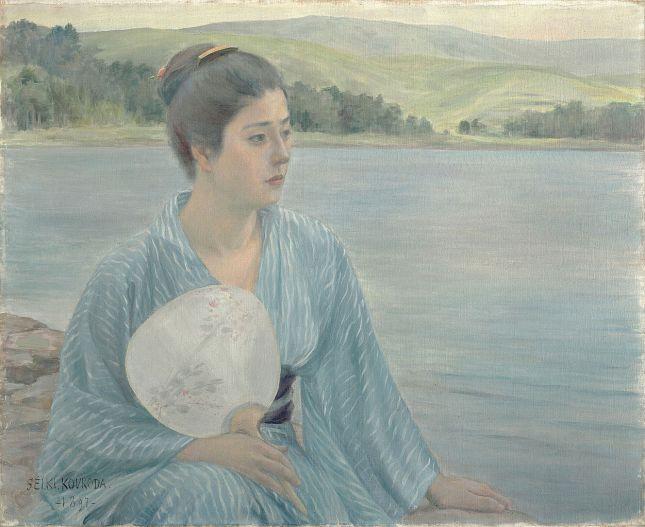 Kuroda Seiki - Al lado del lago