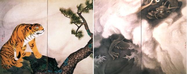 Maruyama Ōkyo - Tigre y dragón