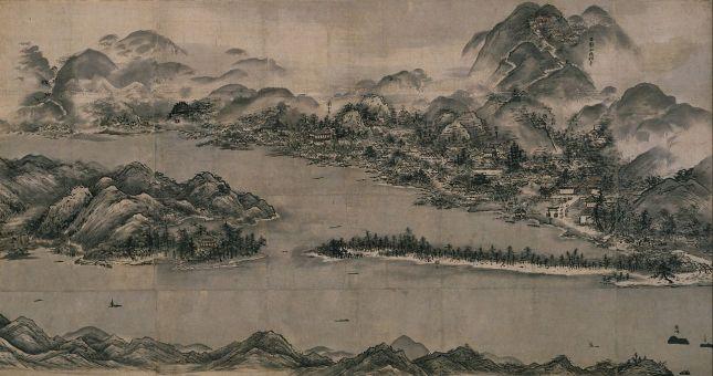 Sesshū Tōyō - Vista de Ama-no-Hashidate