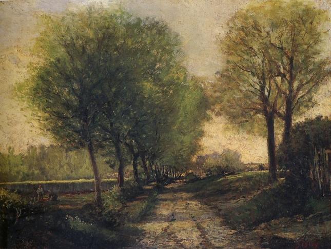 Camino cerca de un pueblo