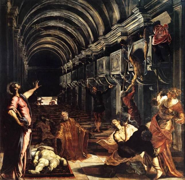 El hallazgo del cuerpo de San marcos