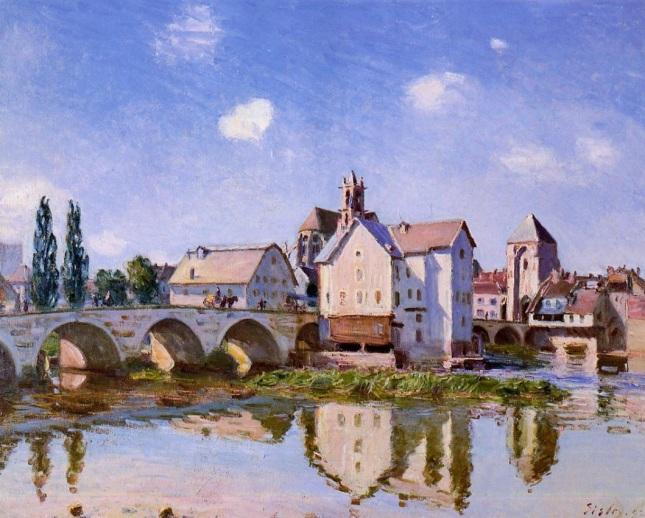 El puente de Moret a la luz del Sol