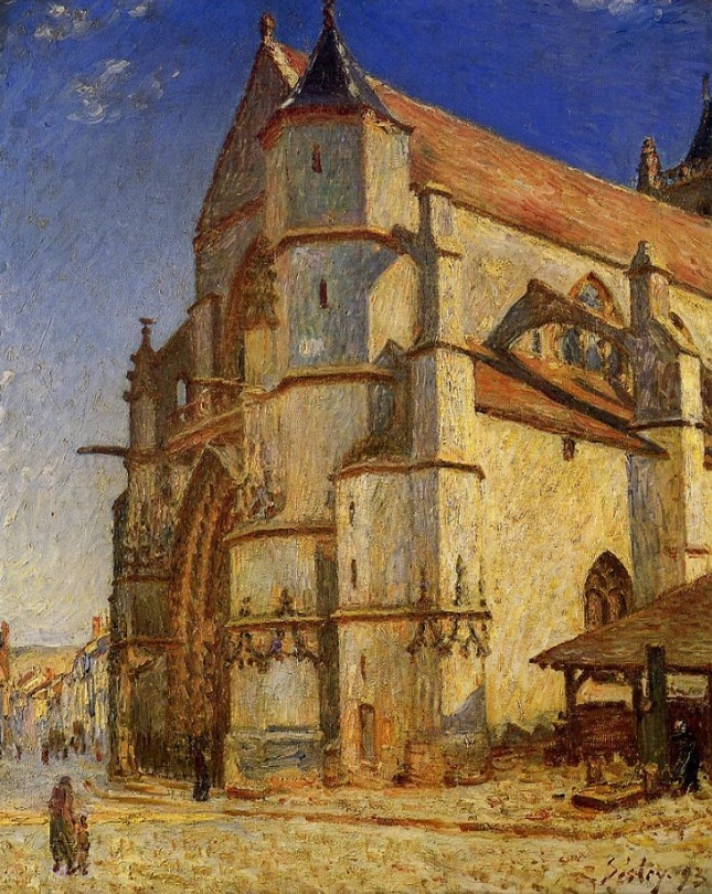 Iglesia de Moret a la luz de la mañana