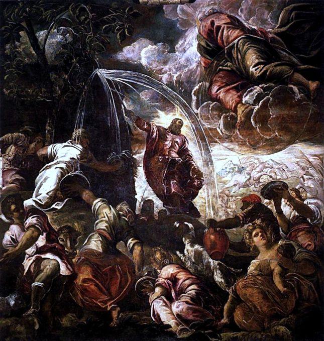Moisés golpeando la roca