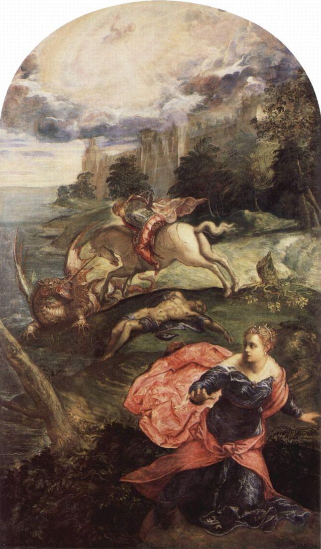 San Jorge luchando con el dragón