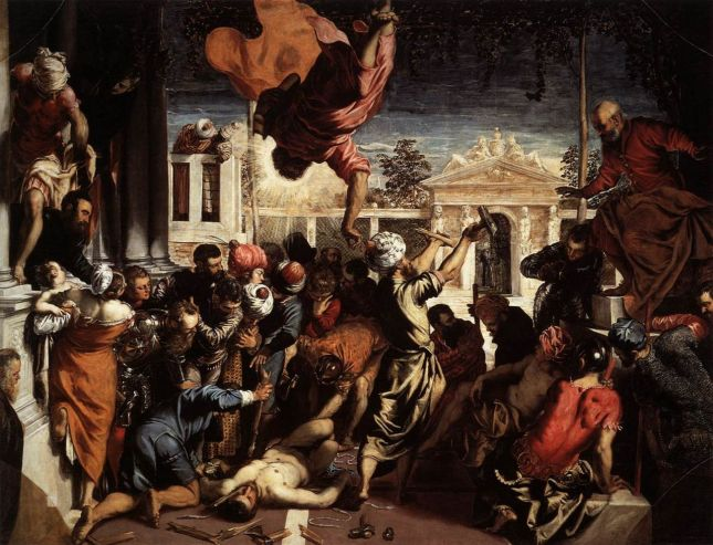 San Marcos liberando al esclavo