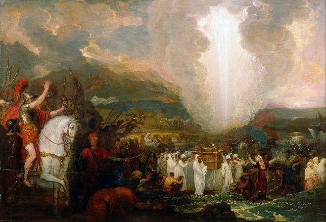 Benjamin West - Josué pasando el Río Jordán con el Arca de la Alianza