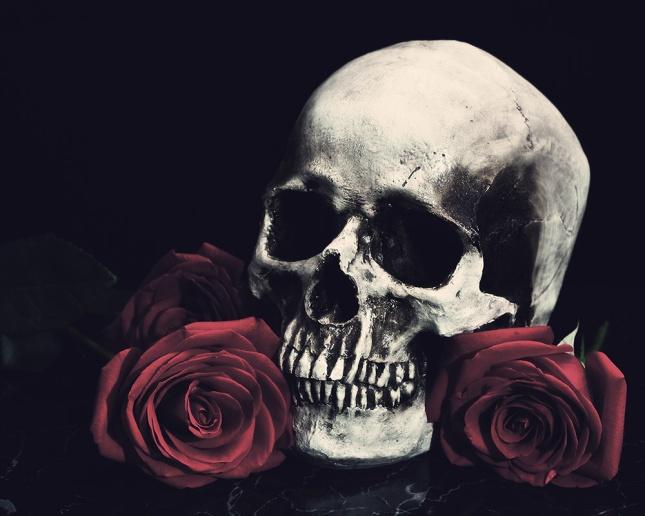Cráneo rosas