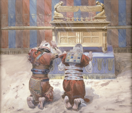 James Jacques Joseph Tissot - Moisés y Josoué arrodillados ante el Arca (Circa 1896 - 1902)