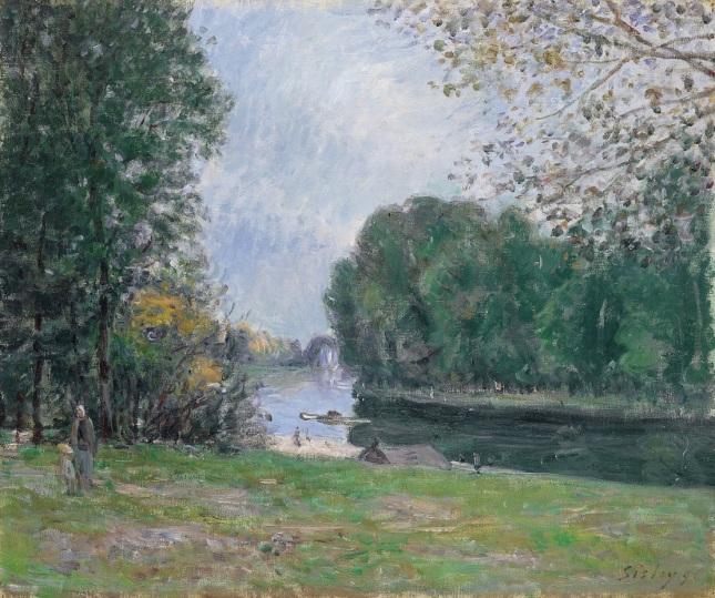 Meandro en el río Loing, verano