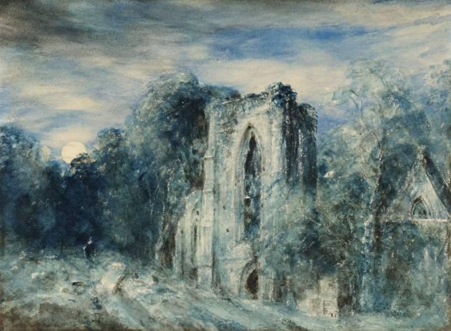 Netley Abbey by Moonlight circa 1833 by John Constable 1776-1837