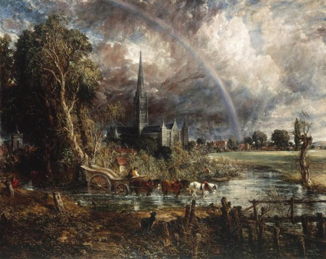 La Catedral de Salisbury vista a través de los campos