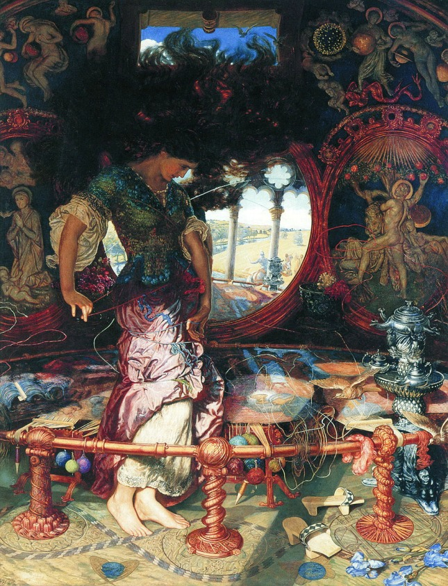 william-holman-hunt-la-dama-de-shalott