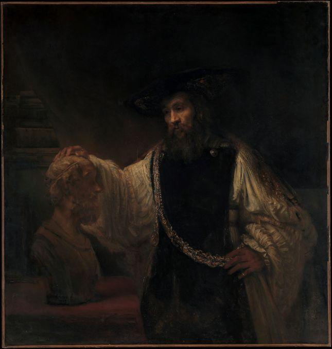 aristoteles-contemplando-el-busto-de-homero