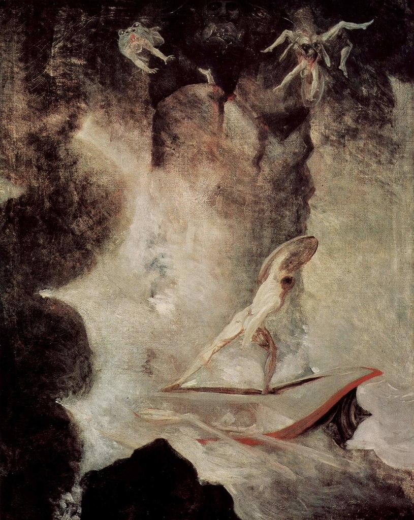 Johann Heinrich Füssli - Odiseo ante Escila y Caribdis
