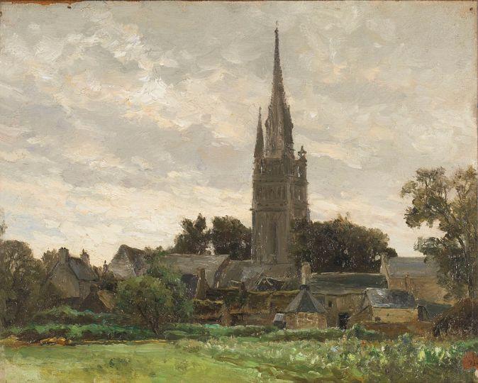 La torre de la iglesia, cercanías de Douarnenez